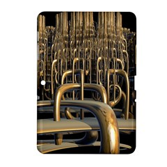 Fractal Image Of Copper Pipes Samsung Galaxy Tab 2 (10.1 ) P5100 Hardshell Case