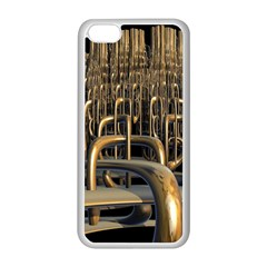 Fractal Image Of Copper Pipes Apple Iphone 5c Seamless Case (white)