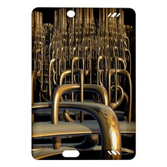 Fractal Image Of Copper Pipes Amazon Kindle Fire Hd (2013) Hardshell Case