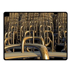 Fractal Image Of Copper Pipes Double Sided Fleece Blanket (Small)