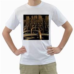 Fractal Image Of Copper Pipes Men s T-Shirt (White)