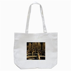 Fractal Image Of Copper Pipes Tote Bag (white)