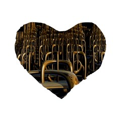Fractal Image Of Copper Pipes Standard 16  Premium Flano Heart Shape Cushions