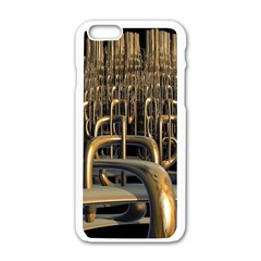 Fractal Image Of Copper Pipes Apple Iphone 6/6s White Enamel Case