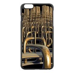 Fractal Image Of Copper Pipes Apple Iphone 6 Plus/6s Plus Black Enamel Case