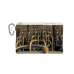 Fractal Image Of Copper Pipes Canvas Cosmetic Bag (S)
