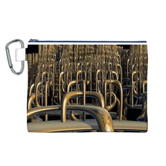 Fractal Image Of Copper Pipes Canvas Cosmetic Bag (L)