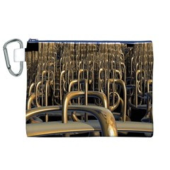 Fractal Image Of Copper Pipes Canvas Cosmetic Bag (xl)