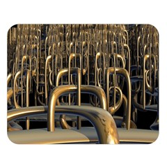 Fractal Image Of Copper Pipes Double Sided Flano Blanket (large)