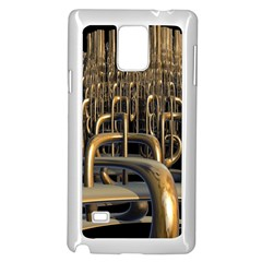 Fractal Image Of Copper Pipes Samsung Galaxy Note 4 Case (white)