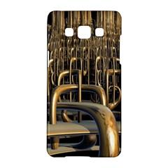 Fractal Image Of Copper Pipes Samsung Galaxy A5 Hardshell Case