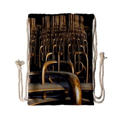 Fractal Image Of Copper Pipes Drawstring Bag (small)