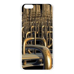 Fractal Image Of Copper Pipes Apple Seamless iPhone 6 Plus/6S Plus Case (Transparent)