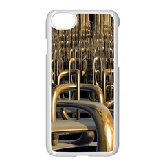 Fractal Image Of Copper Pipes Apple Iphone 7 Seamless Case (white)