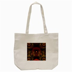 Fractal Yellow Design On Black Tote Bag (cream)