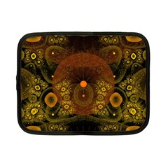 Fractal Yellow Design On Black Netbook Case (small)
