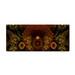Fractal Yellow Design On Black Cosmetic Storage Cases
