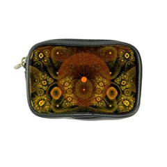 Fractal Yellow Design On Black Coin Purse