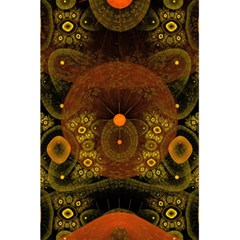 Fractal Yellow Design On Black 5 5  X 8 5  Notebooks