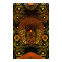 Fractal Yellow Design On Black Shower Curtain 48  x 72  (Small)