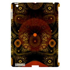 Fractal Yellow Design On Black Apple Ipad 3/4 Hardshell Case (compatible With Smart Cover)