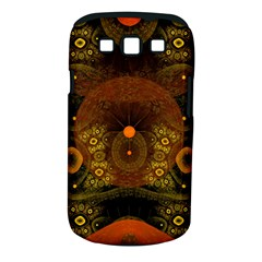 Fractal Yellow Design On Black Samsung Galaxy S Iii Classic Hardshell Case (pc+silicone)