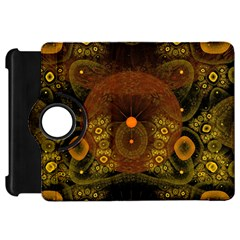 Fractal Yellow Design On Black Kindle Fire Hd 7