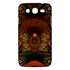 Fractal Yellow Design On Black Samsung Galaxy Mega 5 8 I9152 Hardshell Case