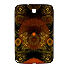 Fractal Yellow Design On Black Samsung Galaxy Note 8.0 N5100 Hardshell Case