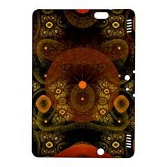 Fractal Yellow Design On Black Kindle Fire Hdx 8 9  Hardshell Case