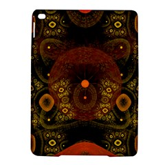 Fractal Yellow Design On Black Ipad Air 2 Hardshell Cases