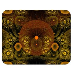 Fractal Yellow Design On Black Double Sided Flano Blanket (medium)