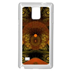 Fractal Yellow Design On Black Samsung Galaxy Note 4 Case (white)