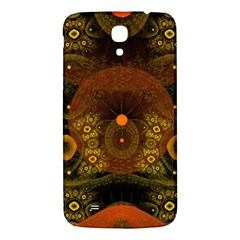 Fractal Yellow Design On Black Samsung Galaxy Mega I9200 Hardshell Back Case
