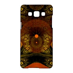Fractal Yellow Design On Black Samsung Galaxy A5 Hardshell Case