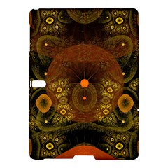 Fractal Yellow Design On Black Samsung Galaxy Tab S (10 5 ) Hardshell Case