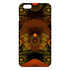 Fractal Yellow Design On Black Iphone 6 Plus/6s Plus Tpu Case