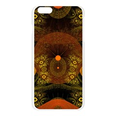 Fractal Yellow Design On Black Apple Seamless iPhone 6 Plus/6S Plus Case (Transparent)