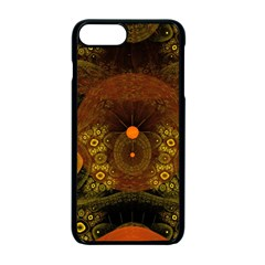 Fractal Yellow Design On Black Apple Iphone 7 Plus Seamless Case (black)