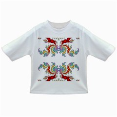 Fractal Kaleidoscope Of A Dragon Head Infant/toddler T Shirts