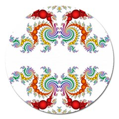 Fractal Kaleidoscope Of A Dragon Head Magnet 5  (round)