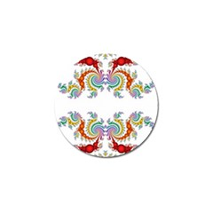 Fractal Kaleidoscope Of A Dragon Head Golf Ball Marker (4 Pack)