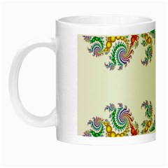 Fractal Kaleidoscope Of A Dragon Head Night Luminous Mugs