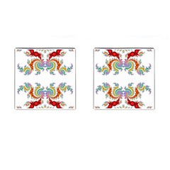 Fractal Kaleidoscope Of A Dragon Head Cufflinks (square)