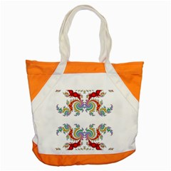 Fractal Kaleidoscope Of A Dragon Head Accent Tote Bag