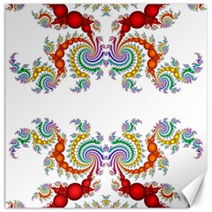 Fractal Kaleidoscope Of A Dragon Head Canvas 12  x 12