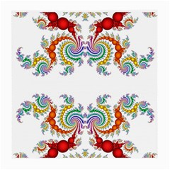 Fractal Kaleidoscope Of A Dragon Head Medium Glasses Cloth