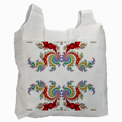 Fractal Kaleidoscope Of A Dragon Head Recycle Bag (one Side)