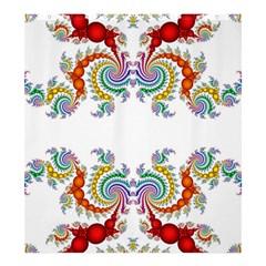 Fractal Kaleidoscope Of A Dragon Head Shower Curtain 66  X 72  (large)