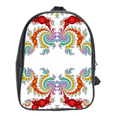 Fractal Kaleidoscope Of A Dragon Head School Bags(large)